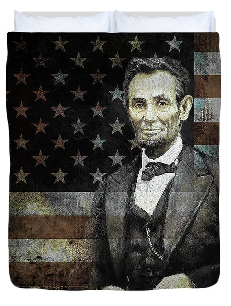 President Lincoln  Duvet Cover by Gull G