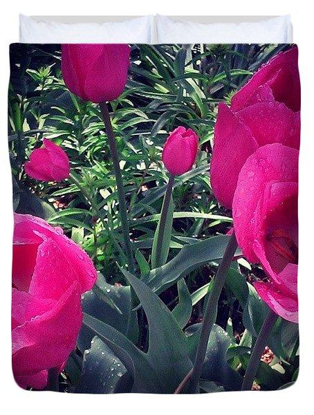 Pretty! ❤ #flowers #pink #kansascity Duvet Cover