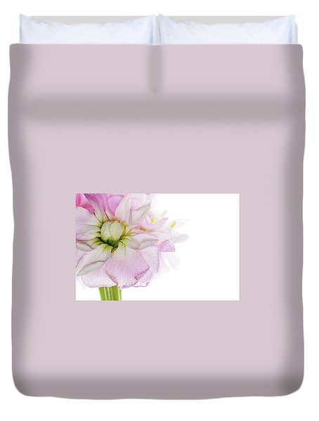 Pretty In Pink Duvet Cover by Rebecca Cozart