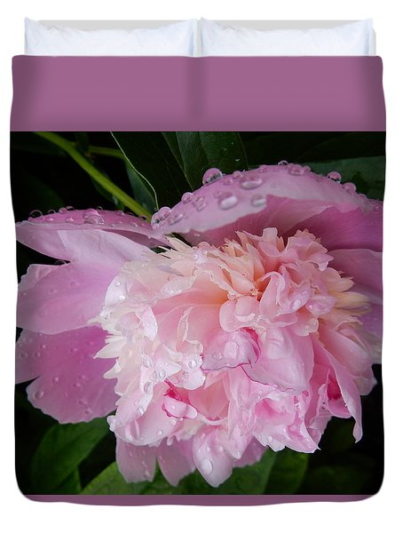 Duvet Cover featuring the photograph Pretty N Pink by Betty-Anne McDonald