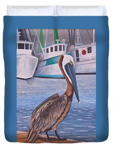 Pride Of Shem Creek Duvet Cover