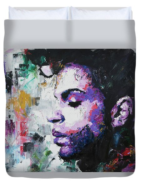 Duvet Cover featuring the painting Prince by Richard Day
