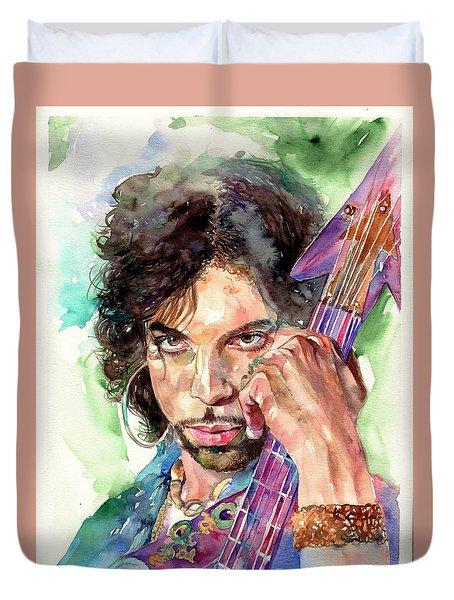 Prince Rogers Nelson Portrait Duvet Cover