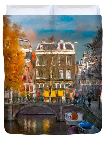 Prinsengracht 807. Amsterdam Duvet Cover