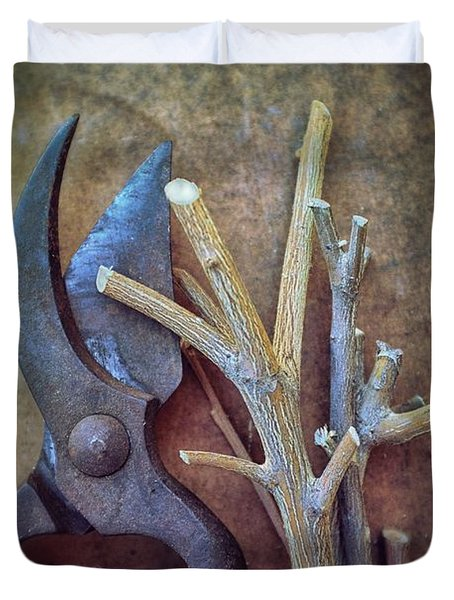Pruning Scissors Duvet Cover