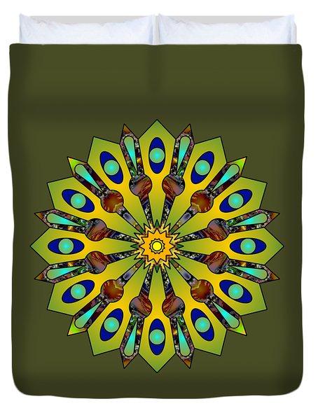 Psychedelic Mandala 004 A Duvet Cover