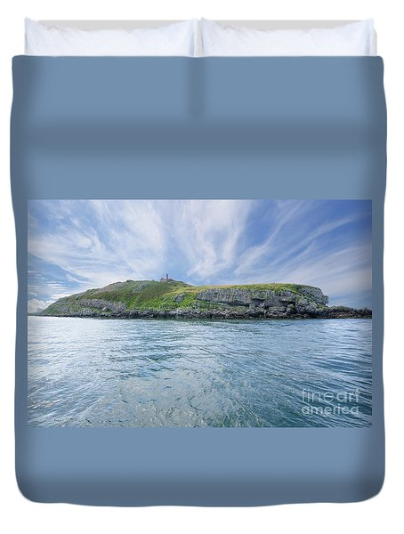 Puffin Island Duvet Cover by Steev Stamford