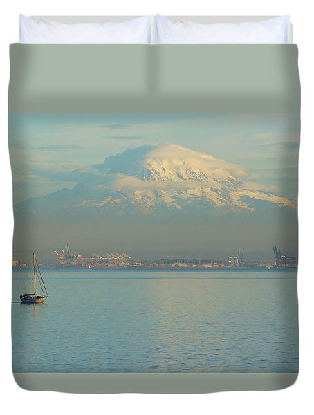 Puget Sound Duvet Cover by Angi Parks