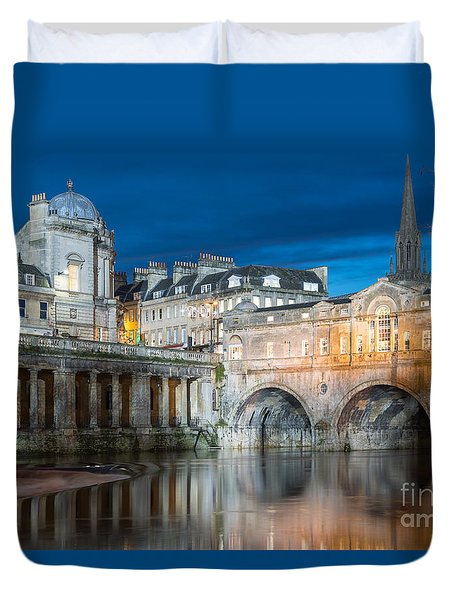 Pulteney Bridge, Bath Duvet Cover