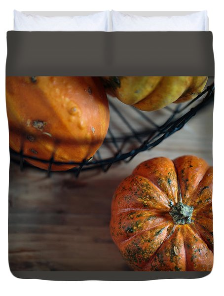 Pumpkin Duvet Cover by Nailia Schwarz