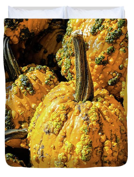 Pumpkins With Warts Duvet Cover
