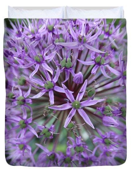 Purple Allium Burst Duvet Cover