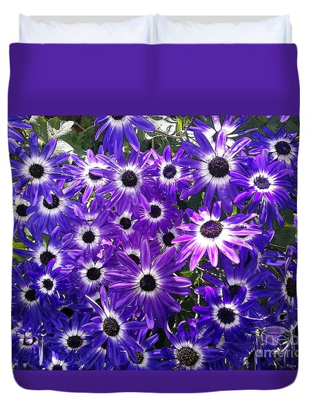 Duvet Cover featuring the photograph Purple Bunch by Haleh Mahbod