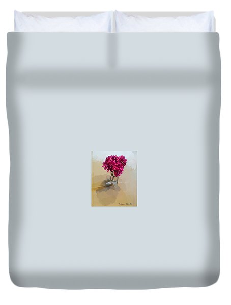 Purple Dahlias Duvet Cover