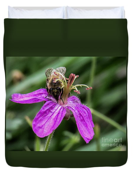 Purple Flower 3 Duvet Cover