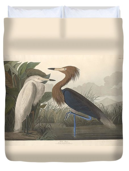 Purple Heron Duvet Cover