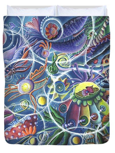 Quantum Entanglement Duvet Cover by Vera Tour