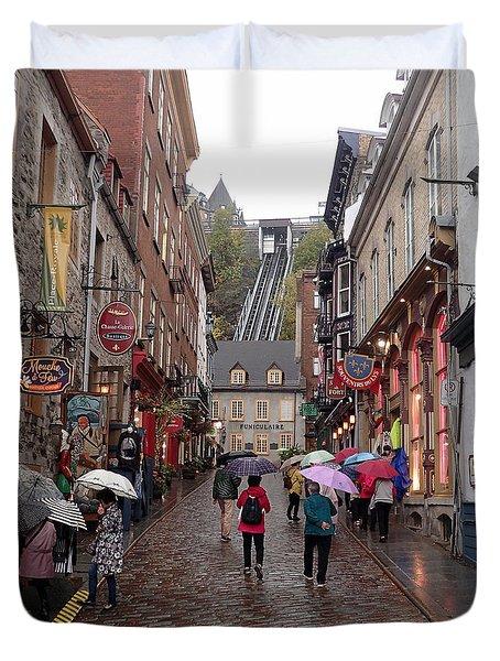 Quebec City Duvet Cover