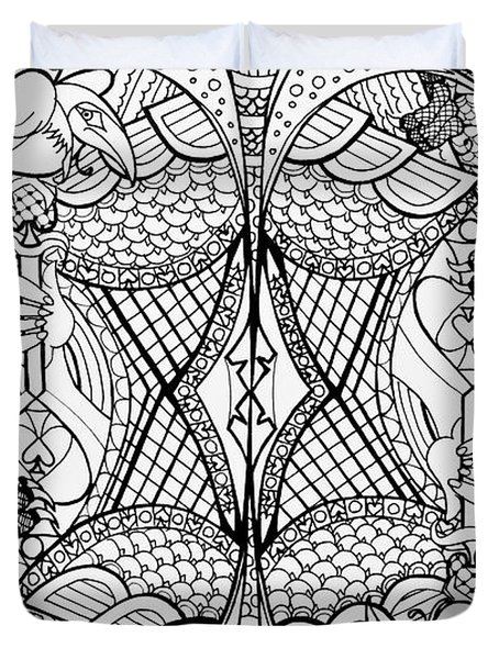 Queen Of Spades 2 Duvet Cover
