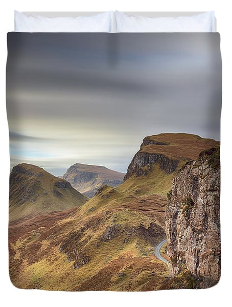 Duvet Cover featuring the photograph Quiraing - Isle Of Skye by Grant Glendinning
