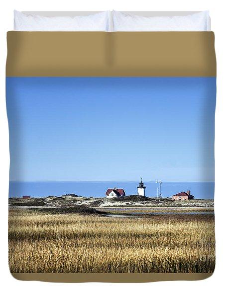Race Point Lighthouse Duvet Cover by John Greim