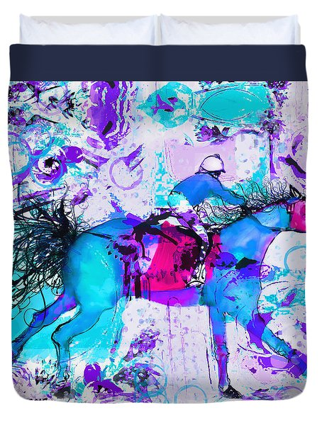 Racing Colors Duvet Cover