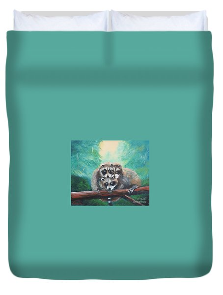 Racoons Duvet Cover