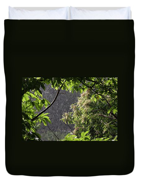 Duvet Cover featuring the photograph Rain by Bruno Spagnolo