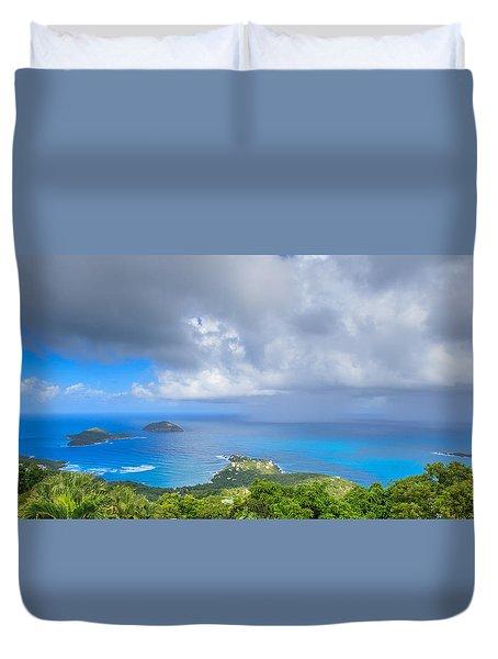 Rain In The Tropics Duvet Cover