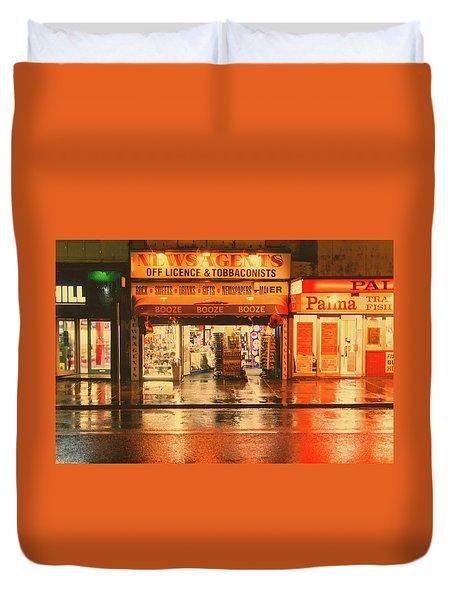 Rain Town Duvet Cover