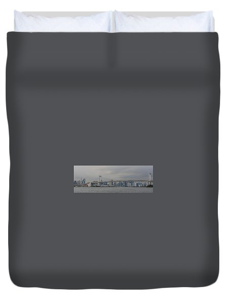 Rainbow Bridge Duvet Cover by Megan Martens