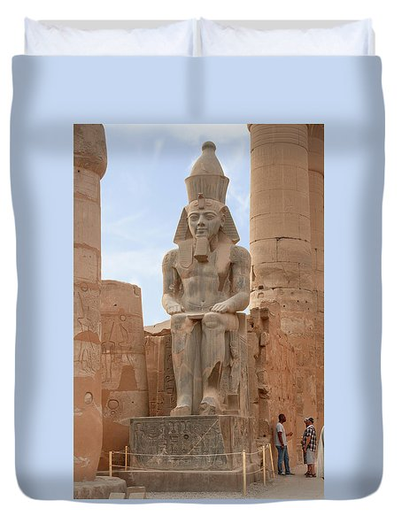 Duvet Cover featuring the photograph Rameses by Silvia Bruno