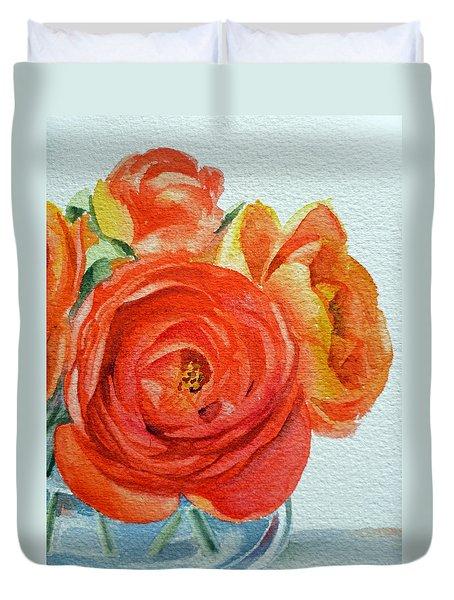 Ranunculus Duvet Cover by Irina Sztukowski