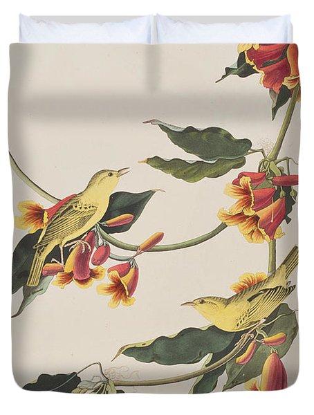 Rathbone Warbler Duvet Cover by John James Audubon
