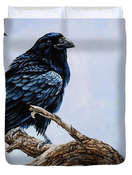 Raven Duvet Cover by Igor Postash