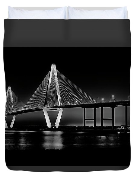Ravenel Bridge Duvet Cover by Bill Barber
