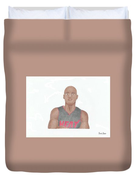 Ray Allen Duvet Cover by Toni Jaso