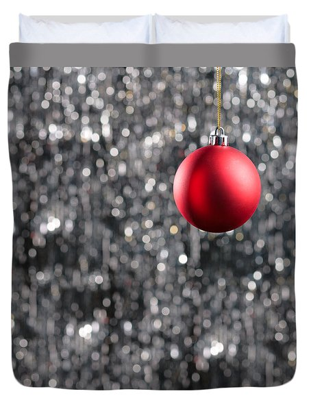 Duvet Cover featuring the photograph Red Christmas by Ulrich Schade