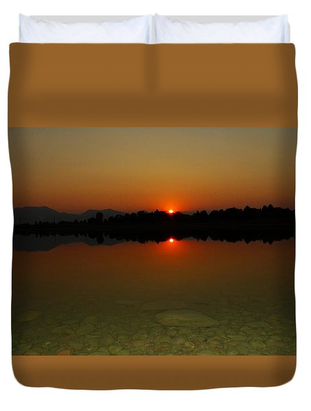 Red Dawn Duvet Cover by Eric Dee
