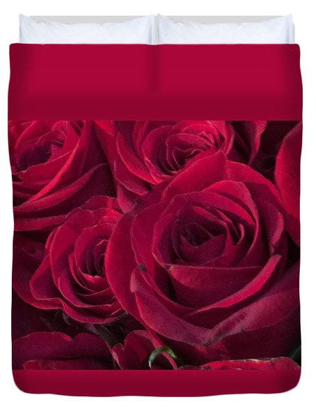 Red Red Roses Duvet Cover by Kay Gilley