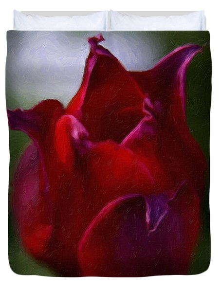 Red Rose Duvet Cover by Andre Faubert