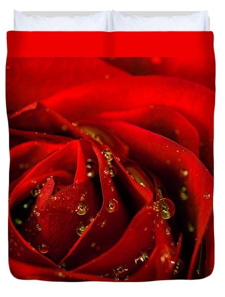 Red Rose 2 Duvet Cover