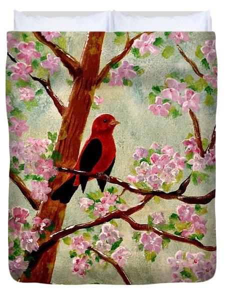 Red Tangler Duvet Cover