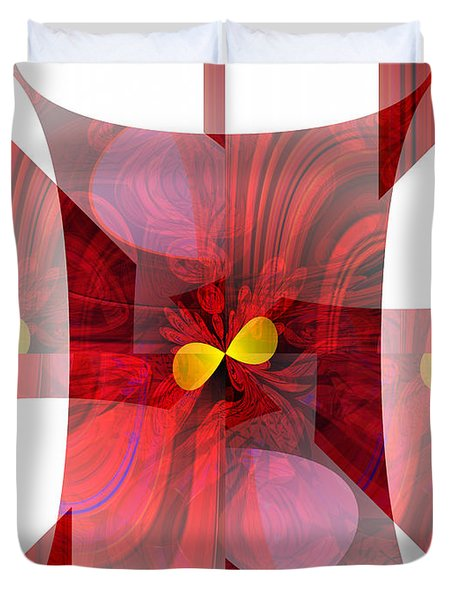 Red Transparency  Duvet Cover