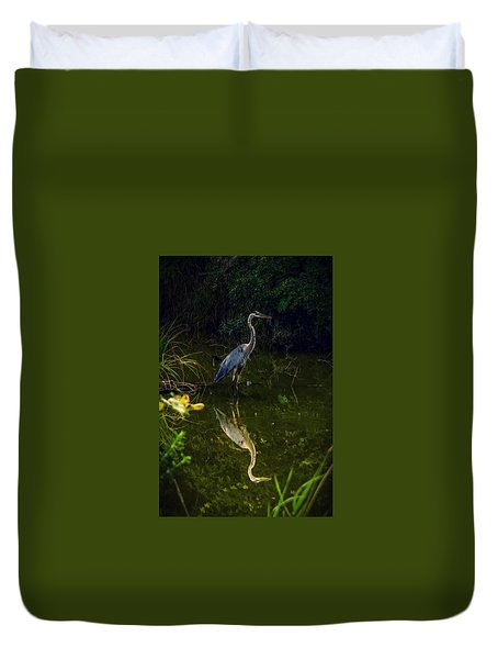 Duvet Cover featuring the photograph Reflect. by Kendall McKernon