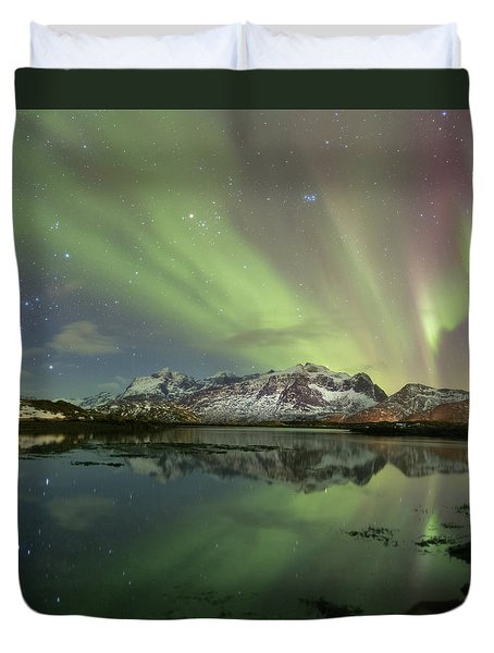 Reflected Lights Duvet Cover