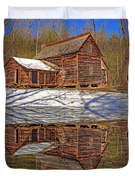 Duvet Cover featuring the photograph Reflections by Geraldine DeBoer