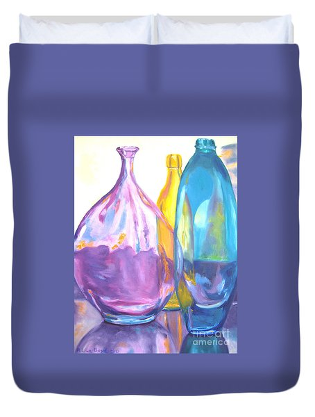 Reflections In Glass Duvet Cover