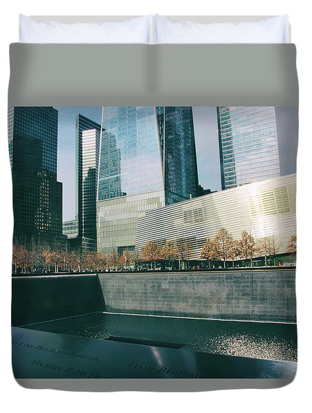 Duvet Cover featuring the photograph Reflections Of Sorrow by Jessica Jenney