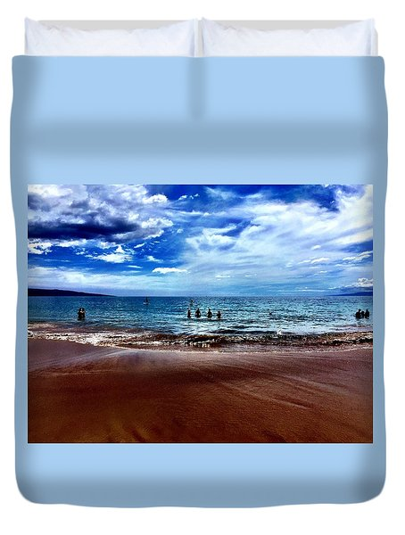 Duvet Cover featuring the photograph Relax by Michael Albright
